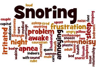 Snoring, word cloud concept 3