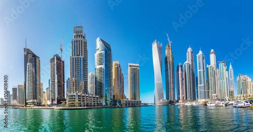 Papiers peints Dubai Panorama of Dubai marina