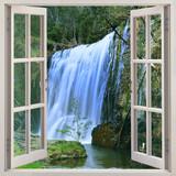 Otwórz okno na Guide Falls, park Alpaca, na północ od Tasmanii tuż za Burnie, Auastralia