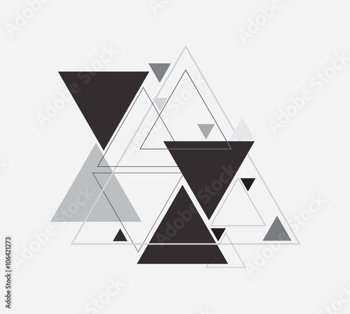 Fototapeta Vector abstract background with triangle