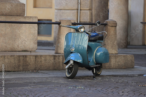 Fotobehang Scooter old Italian scooter