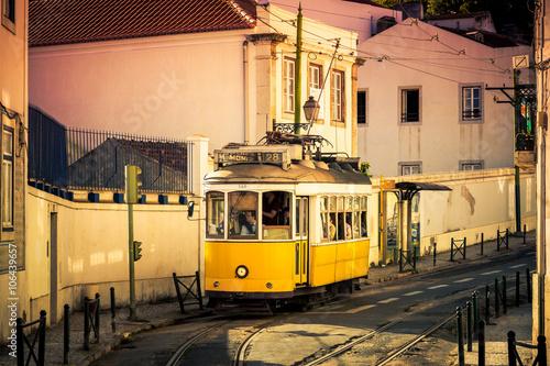 Poster Straßenbahn Lissabon