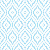 Seamless blue vintage persian ikat pattern vector - 106443633
