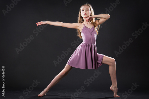 Portrait of young dancer in dramatic pose Poster