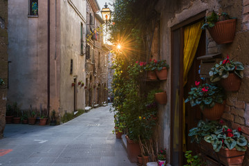 Beautiful magical nooks in the medieval town of Pitigliano.