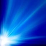 Fototapety Sun on blue sky with lenses flare