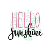 Hello Sunshine summer typography