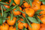 Fresh mandarin oranges fruit. Background.