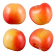 Cherry isolated on white. Collection. With clipping path.