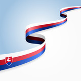 Slovak flag background. Vector illustration.