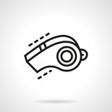 Sport whistle simple line vector icon