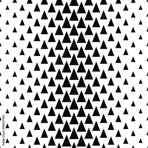 Repeat black and white vector triangle pattern - 106557693
