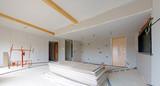 construction maison - pose de plaques de platre # czm  - 106577239