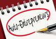 Постер, плакат: Auto Entrepreneurs Entreprise