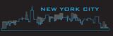 Outline of New York City skyline. Vector illustration eps 10.