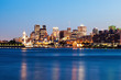 Panorama of Montreal at sunset