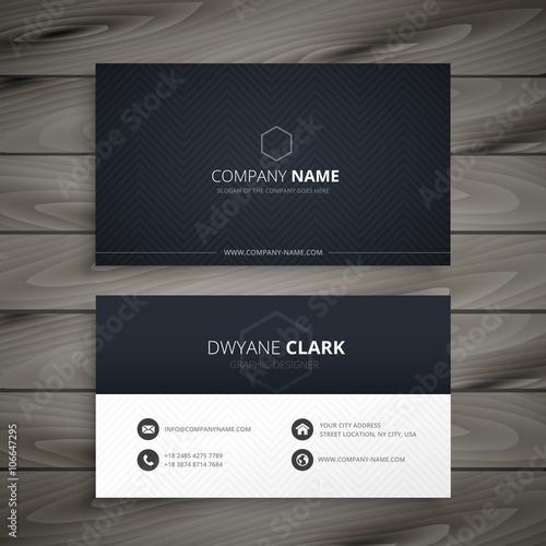 clean dark business card