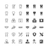 Dental icons, included normal and enable state.