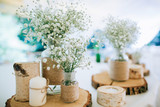 Hand Made Wedding Decoration, flowers, wood - 106664463
