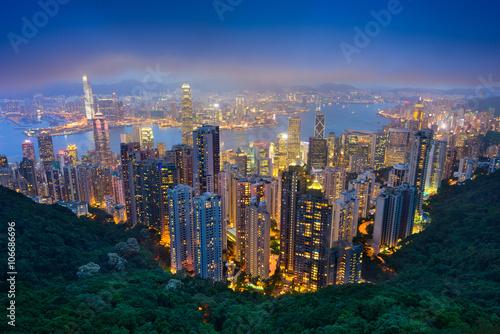 fototapeta na ścianę Hong Kong Skyline