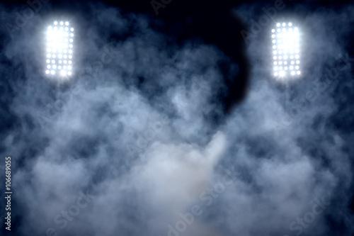 stadium lights and smoke Poster