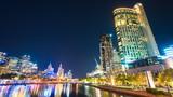 4k hyperlapse video of Melbourne at night