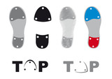 Tap dance shoes vector. Icons tap shoes. Sole tap shoes. Set dancing shoes on a white background