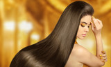 Fototapety Beautiful Hair. Beauty brunette woman with luxurious long hair o