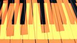 Абстрактное изображение клавиш пианино с использованием двойной экспозиции