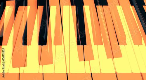 Zdjęcia na płótnie, fototapety, obrazy : Абстрактное изображение клавиш пианино с использованием двойной экспозиции