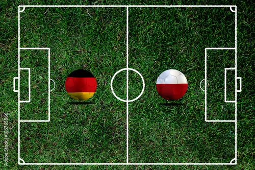 Poster Soccer Euro 2016 ( Football )  German and Poland