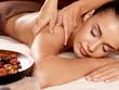 Quadro Woman having massage in the spa salon