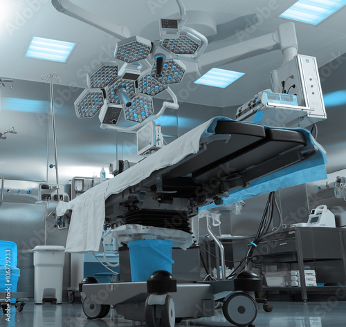 Poster Industrial geb. Modern operating room