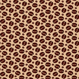Fototapety Brown seamless background with scattering of coffee beans. Seamless coffee pattern. Design for cards, wallpaper, posters, clothes