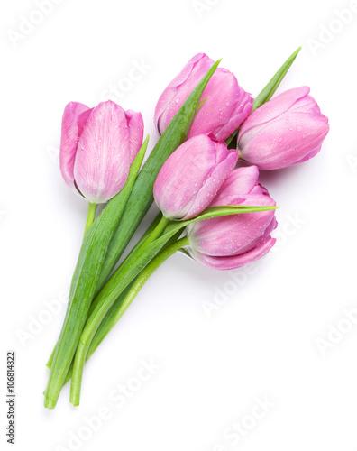 swiezy-rozowy-tulipan-kwitnie-bukiet