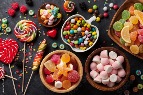 Colorful candies, jelly and marmalade Poster