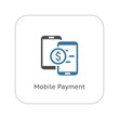 Mobile Payment Icon. Flat Design.