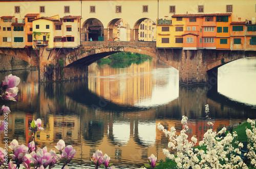 Poster Ponte Vecchio, Florenz, Italien
