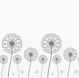 Seamless background with dandelions