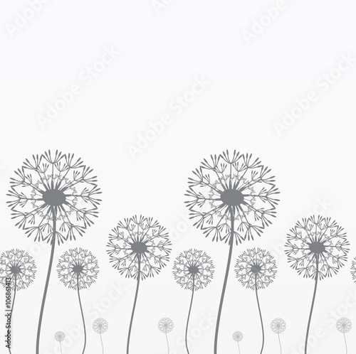 Seamless background with dandelions - 106861413