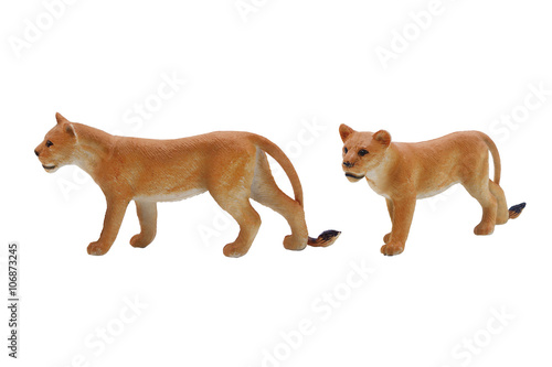 Poster Isolated lioness toy photo
