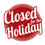 Closed for the holiday stamp