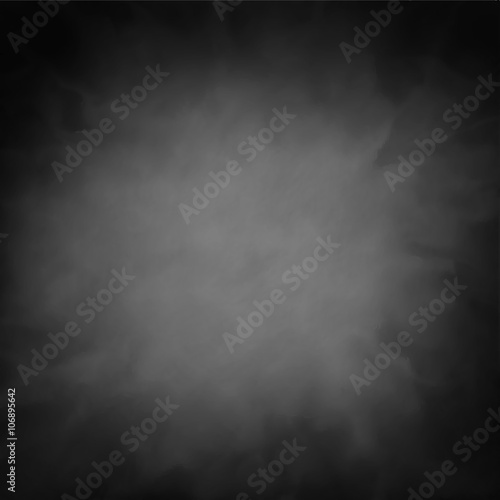 black vector background texture with smoky cloudy white or gray center with dark vignette border
