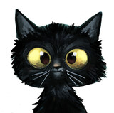 Fototapety gato negro ilustracion