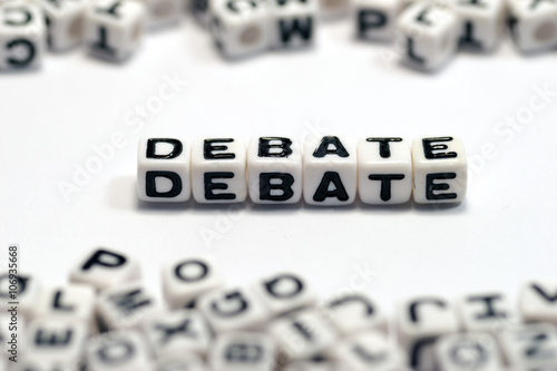 DEBATE, on the white cube Poster