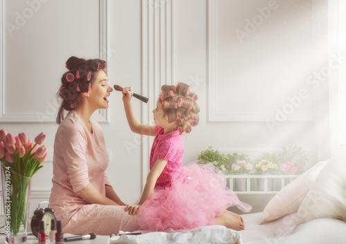 Happy loving family