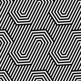 Vector seamless texture. Geometric abstract background. Monochrome repeating pattern of broken lines. - 106969687