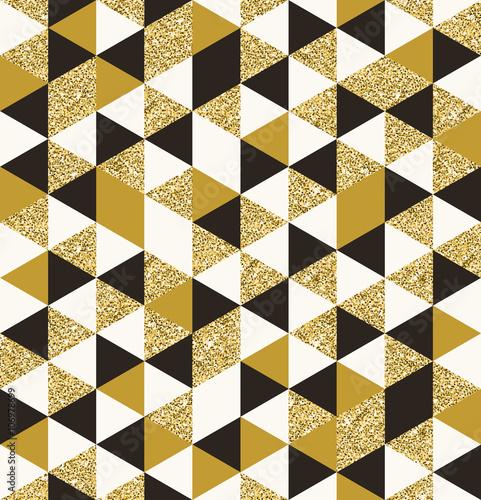 Fototapeta Geometric pattern composed of triangular elements - vector seamless background