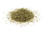 dried of marjoram leaves on a white background - 107001099