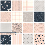 Fototapety Seamless Pattern Blush Set